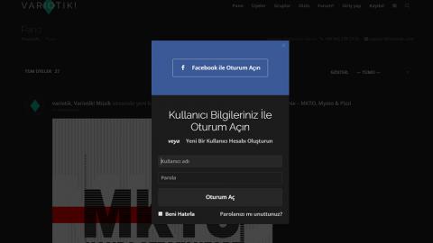 Variotik'e Facebook ile kaydolun ve / veya giriş yaparken Facebook ile giriş yapın